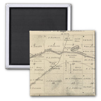 T24S R27E Tulare County Section Map 2 Inch Square Magnet