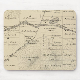 T24S R27E Tulare County Section Map Mouse Pad