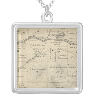 T24S R27E Tulare County Section Map Square Pendant Necklace