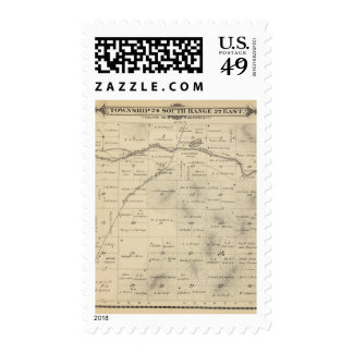 T24S R27E Tulare County Section Map Postage
