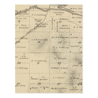 T24S R27E Tulare County Section Map Postcard