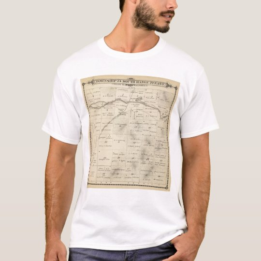 T24S R27E Tulare County Section Map T-Shirt