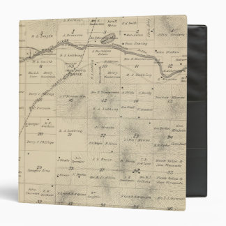 T24S R27E Tulare County Section Map Vinyl Binders