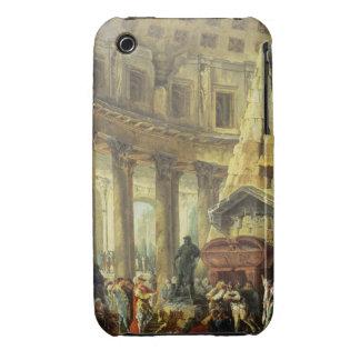 T28516 Alexander el grande visitando la tumba de iPhone 3 Carcasas