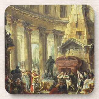 T28516 Alexander the Great visiting the Tomb of Ac Beverage Coaster