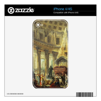 T28516 Alexander the Great visiting the Tomb of Ac Decal For The iPhone 4S