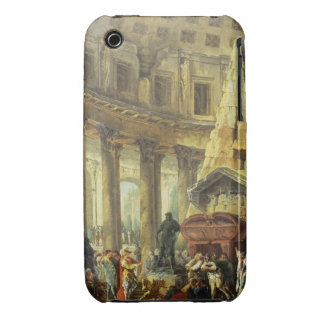 T28516 Alexander the Great visiting the Tomb of Ac iPhone 3 Case
