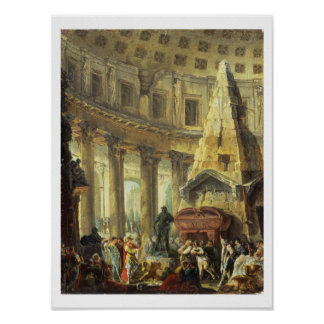 T28516 Alexander the Great visiting the Tomb of Ac Poster