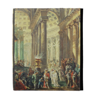 T28517 Capriccio of a Roman temple with Alexander iPad Folio Cases