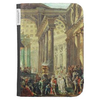 T28517 Capriccio of a Roman temple with Alexander Kindle 3 Case