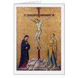 T28723 la crucifixión (el panel) tarjeta de felicitación