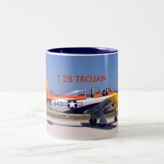 T28, T 28 TROJAN Two-Tone COFFEE MUG