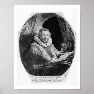 T29953 Portrait of Jan Uytenbogaert, Preacher of t Print