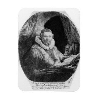 T29953 Portrait of Jan Uytenbogaert, Preacher of t Rectangular Magnet