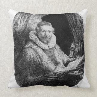 T29953 Portrait of Jan Uytenbogaert, Preacher of t Throw Pillow