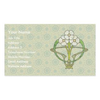 T2 céltico del diseño floral del art déco tarjetas de visita