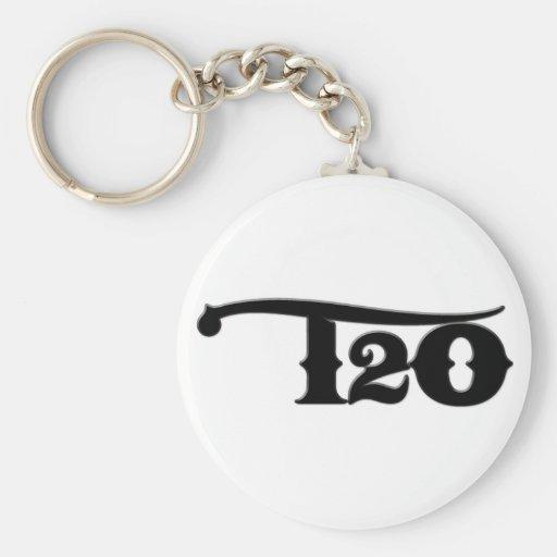 T2O Black Keychain