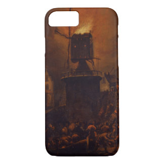 T30554A The Burning Windmill, 1662 (panel) iPhone 8/7 Case