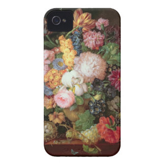 T30763 A Still Life of Flowers and Fruit (panel) Case-Mate iPhone 4 Case