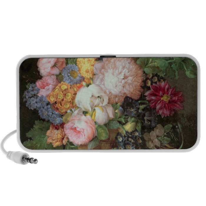 T30763 A Still Life of Flowers and Fruit (panel) Portable Speaker