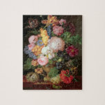 T30763 A Still Life of Flowers and Fruit (panel) Jigsaw Puzzle