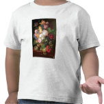 T30763 A Still Life of Flowers and Fruit (panel) Tees