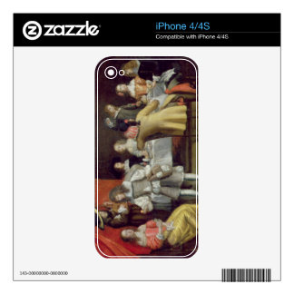 T30878 Elegant Company Dining Beneath a Red Canopy Decals For The iPhone 4