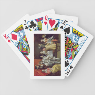 T30878 Elegant Company Dining Beneath a Red Canopy Deck Of Cards