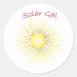 T30a galón solar pegatina redonda