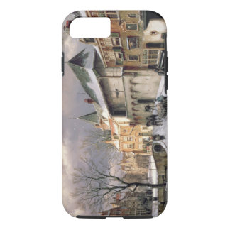 T31117 A View of a Dutch Town in Winter iPhone 7 Case