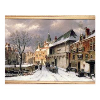T31117 una vista de una ciudad holandesa en tarjeta postal