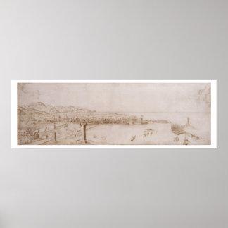 T31454 una vista panorámica de Livorno (pluma y ti Póster