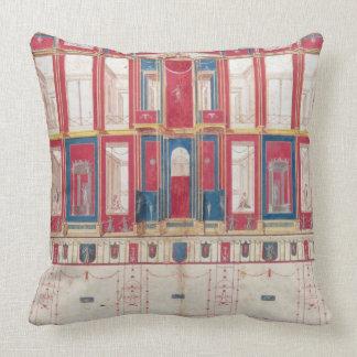 T31456 Study of a Roman Fresco, 1775 (w/c, gouache Throw Pillow