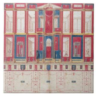 T31456 Study of a Roman Fresco, 1775 (w/c, gouache Tile