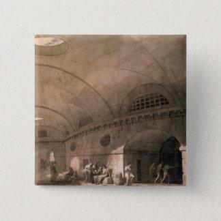 T31459 A Prison Scene, 1794 (pen & ink, wash, chal Pinback Button