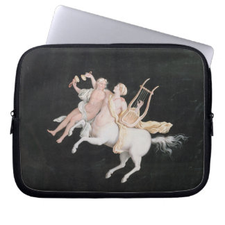 T31466 A Female Centaur and Companion Making Music Computer Sleeves