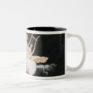 T31466 A Female Centaur and Companion Making Music Two-Tone Coffee Mug