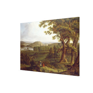 T31507 View from the North West of Castle Howard, Gallery Wrap Canvas