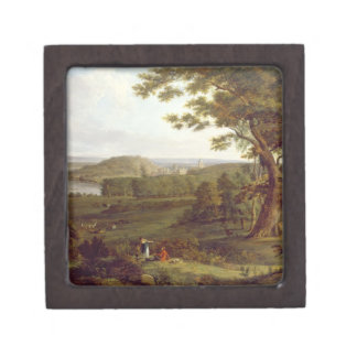 T31507 View from the North West of Castle Howard, Premium Jewelry Boxes
