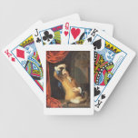 T31553 A Cavalier Standing at a Window Examining a Bicycle Playing Cards