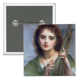 T31601 A Lady with Lyre (panel) Pinback Button
