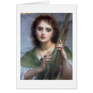 T31601 A Lady with Lyre (panel) Card