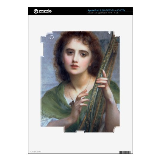 T31601 A Lady with Lyre (panel) iPad 3 Decals