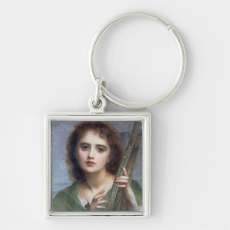 T31601 A Lady with Lyre (panel) Key Chain
