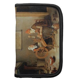 T31883 un interior con una mujer mayor en un giro organizador
