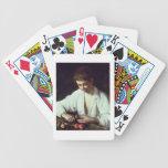 T31971 A Young Boy Peeling an Apple Card Deck