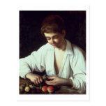 T31971 A Young Boy Peeling an Apple Postcards