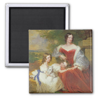 T32011 Portrait of Mrs Sarah Frances Cooper and he 2 Inch Square Magnet