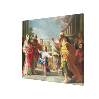 T32126 Christ Preaching in the Temple Canvas Print
