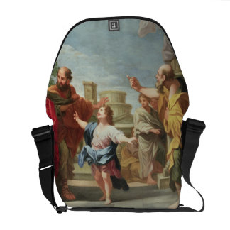 T32126 Christ Preaching in the Temple Courier Bag